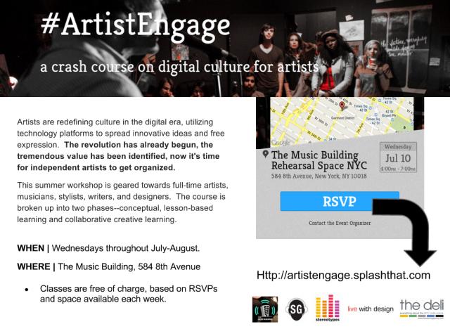 #ArtistEngage